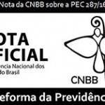 """Nota da CNBB sobre a PEC 287/16 – """"Reforma da Previdência"""""""
