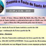 Programação da Festa de Santo Antônio